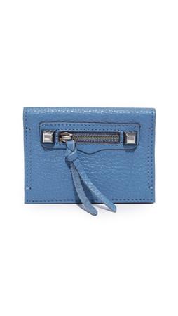 Rebecca Minkoff Regan Card Case - Dust Blue