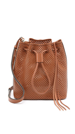 Rebecca Minkoff Star Perf Bucket Bag - Almond