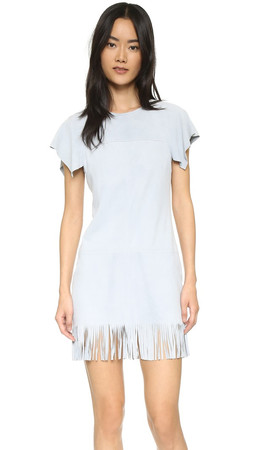 Rebecca Minkoff Suede Saturn Dress - Sky Blue
