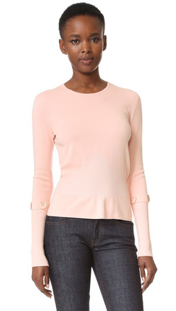 Salvatore Ferragamo Button Sleeve Sweater - Rose