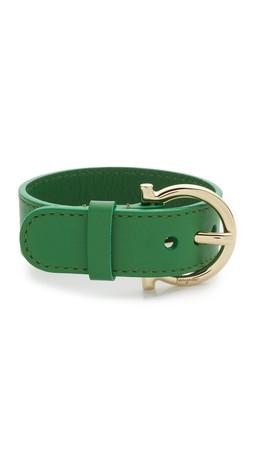Salvatore Ferragamo Gancio Buckle Bracelet - Amazzonia/Oro