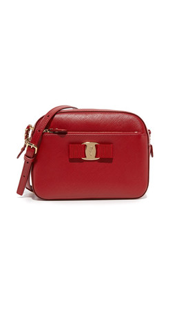 Salvatore Ferragamo Lydia Camera Bag - Rosso