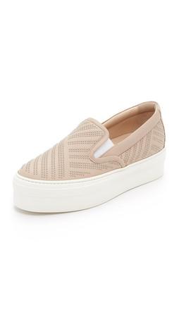 Salvatore Ferragamo Pacau Studs Slip On Sneakers - New Bisque