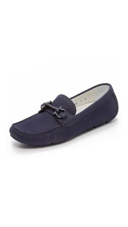 Salvatore Ferragamo Parigi Driving Loafers - Blue Marine