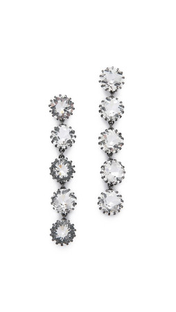 Sam Edelman 5 Stone Linear Earrings - Clear