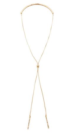 Sam Edelman Crinkle Bolero Necklace - Gold