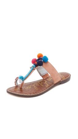 Sam Edelman Gemina Thong Sandals - Papaya Punch