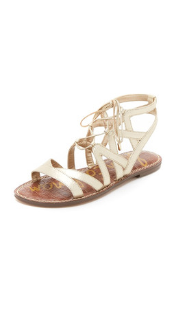 Sam Edelman Gemma Gladiator Sandals - Light Gold