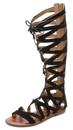 Sam Edelman Gena Tall Gladiator Sandals - Black
