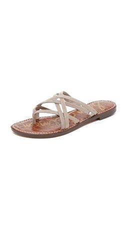 Sam Edelman Georgette Flat Sandals - Putty