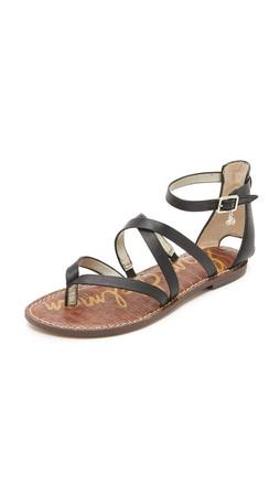 Sam Edelman Gilroy Flat Sandals - Black