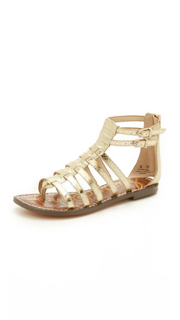 Sam Edelman Kendra Flat Sandals - Gold