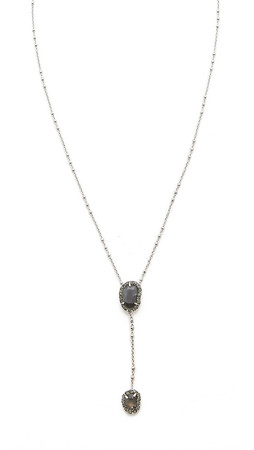 Sam Edelman Pave Stone Necklace - Grey/Silver