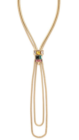 Sam Edelman Stone Bolero Necklace - Multi/Gold