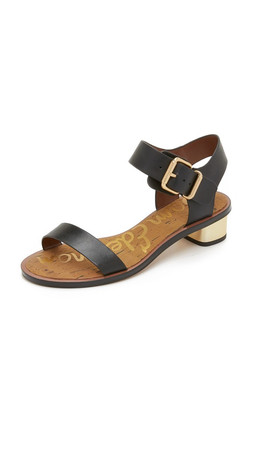 Sam Edelman Trina City Sandals - Black