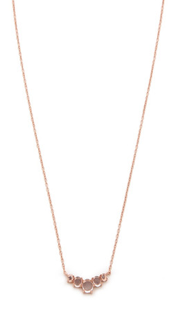 Samantha Wills Copper Blossom Necklace - Rose Gold/Clear