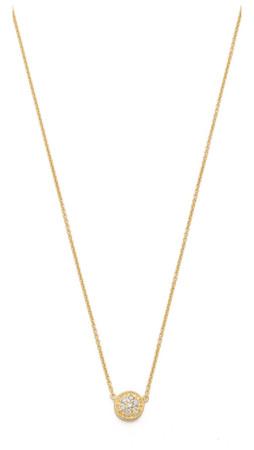 Sarah Chloe Petite Jolie Diamond Necklace - Clear/Gold