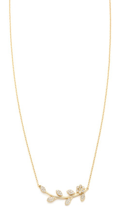 Shashi Amelia Necklace - Gold/Clear