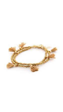 Shashi Laila Crystal Bracelet - Gold