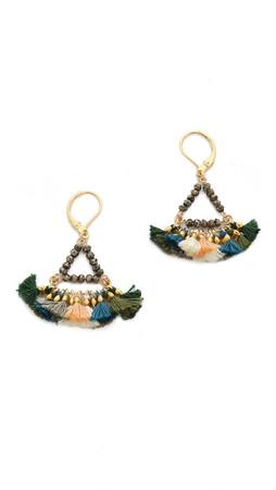 Shashi Lilu Earrings - Army