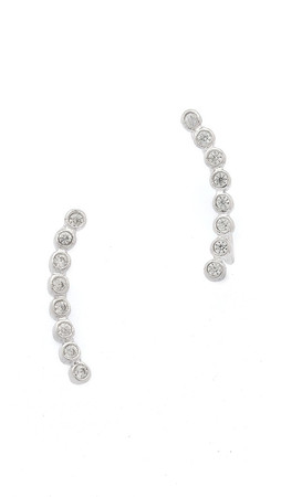 Shashi Noa Ear Climbers - Silver/Clear