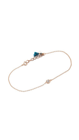 Shashi Solitaire Bracelet - Rose Gold/Clear