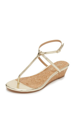 Splendid Ember Demi Wedge Sandals - Gold