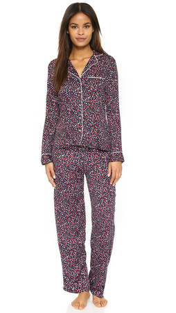 Splendid Piped Pj Set - Winter Speckle