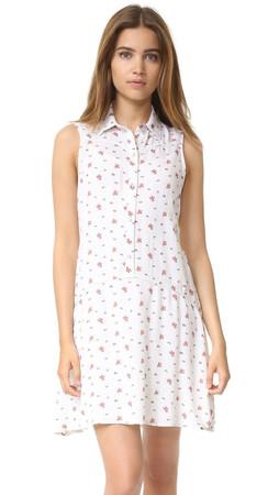 Splendid Primrose Ditsy Shirtdress - Natural