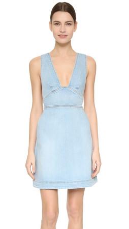 Stella Mccartney Anne Denim Dress - Sun Faded Blue