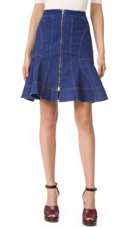 Stella Mccartney Denim Skirt - Blu Notte