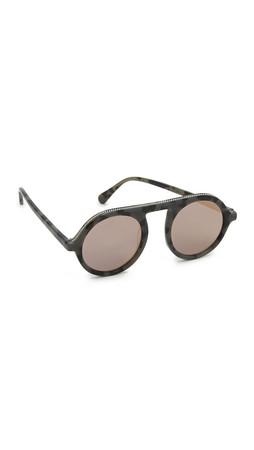 Stella Mccartney Falabella Chain Round Mirrored Sunglasses - Havana/Pink