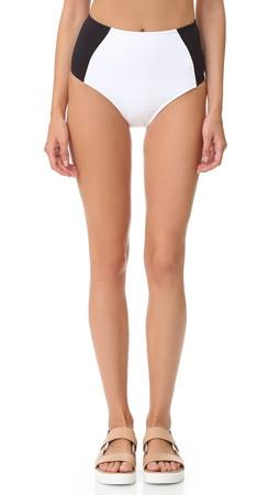 Stella Mccartney Miracle High Waist Bikini Bottoms - Black/Stone/White