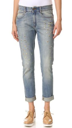 Stella Mccartney Skinny Boyfriend Jeans - Pale Blue