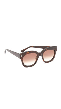 Stella Mccartney Square Sunglasses - Havana/Brown