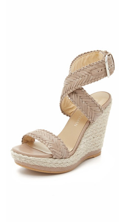 Stuart Weitzman Elixir Wedge Sandals - Dove