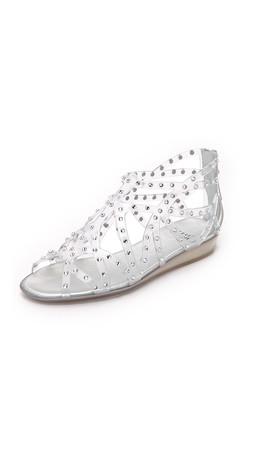 Stuart Weitzman Glogladius Jelly Sandals - Clear