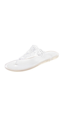 Stuart Weitzman Mermaid Jelly Sandals - Crystal