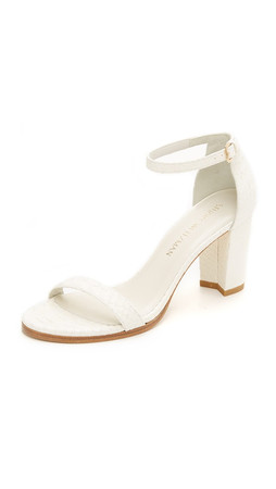 Stuart Weitzman Nearlynude Sandals - Chalk