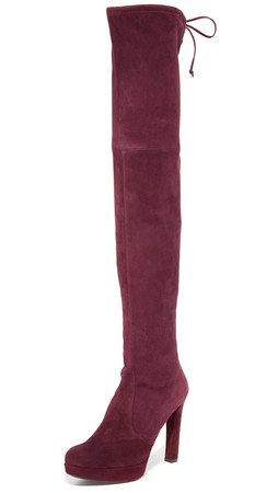 Stuart Weitzman Platform Highland Over The Knee Boots - Curant