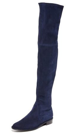 Stuart Weitzman Thigh Scraper Over The Knee Boots - Nice Blue