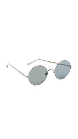 Sunday Somewhere Raine Flat Lens Sunglasses - Silver/Silver