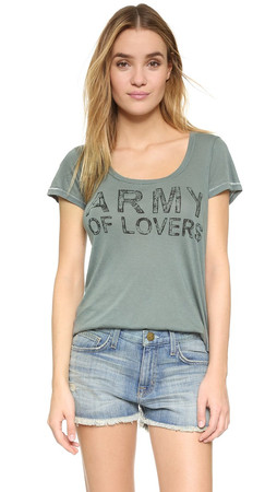 Sundry Army Of Lovers Tee - Olive
