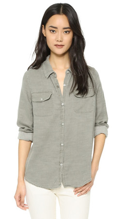 Sundry Army Shirt - Pigment Olive