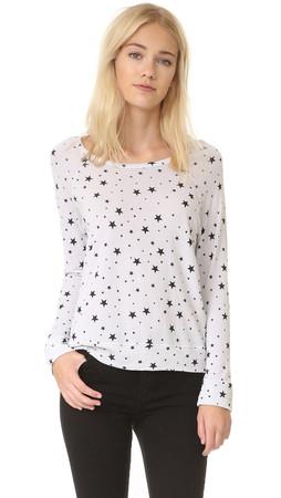 Sundry Black Stars Pullover - Oyster