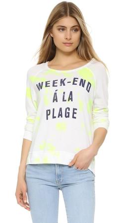 Sundry Weekend Crop Pullover - Tie Dye Sun