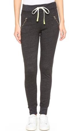 Sundry Zipper Sweatpants - Black