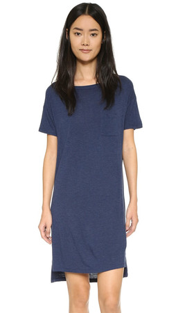 T By Alexander Wang Classic Boat Neck Dress - Marine
