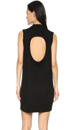 T By Alexander Wang Cutout Knit Dress - Black