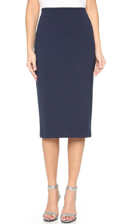 T By Alexander Wang Ponte Pencil Skirt - Marine